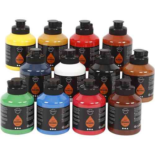 Pigment Acrylfarbe 12 x 500 ml