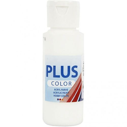 Plus Color Bastelfarbe, 60 ml, weiß